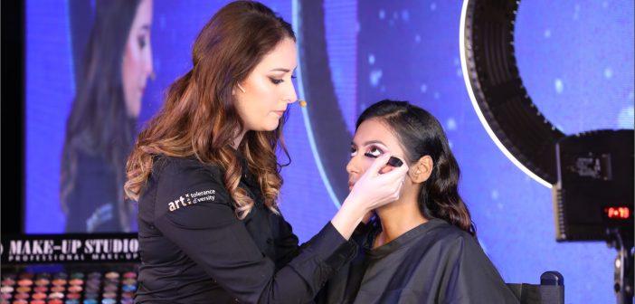 Sharan Knuiman from Amsterdam creates Indian bridal look at MUW