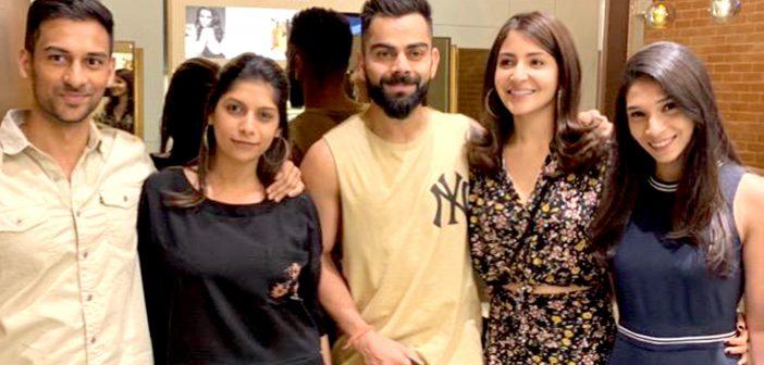 Power-couple, Virat Kholi and Anushka Sharma spotted at Blown salon